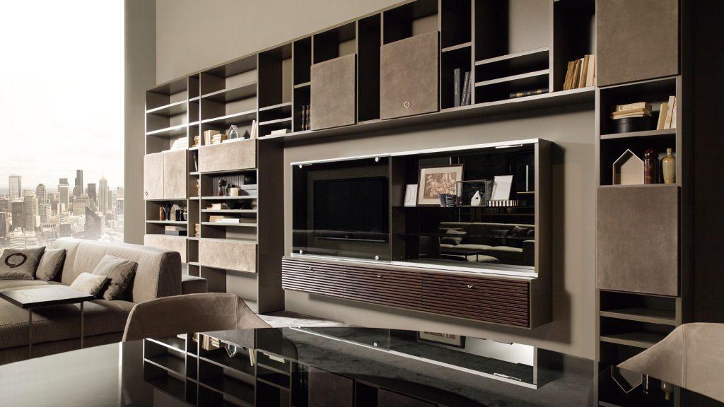 parete attrezzata modulare Mondrian in stile contemporaneo