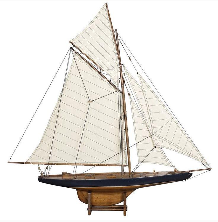 Riproduzione in scala del veliero Columbia originale che partecipò all'Americas Cup del 1901