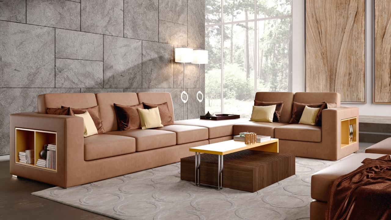 Moka Sunset living room by Caroti Concept
