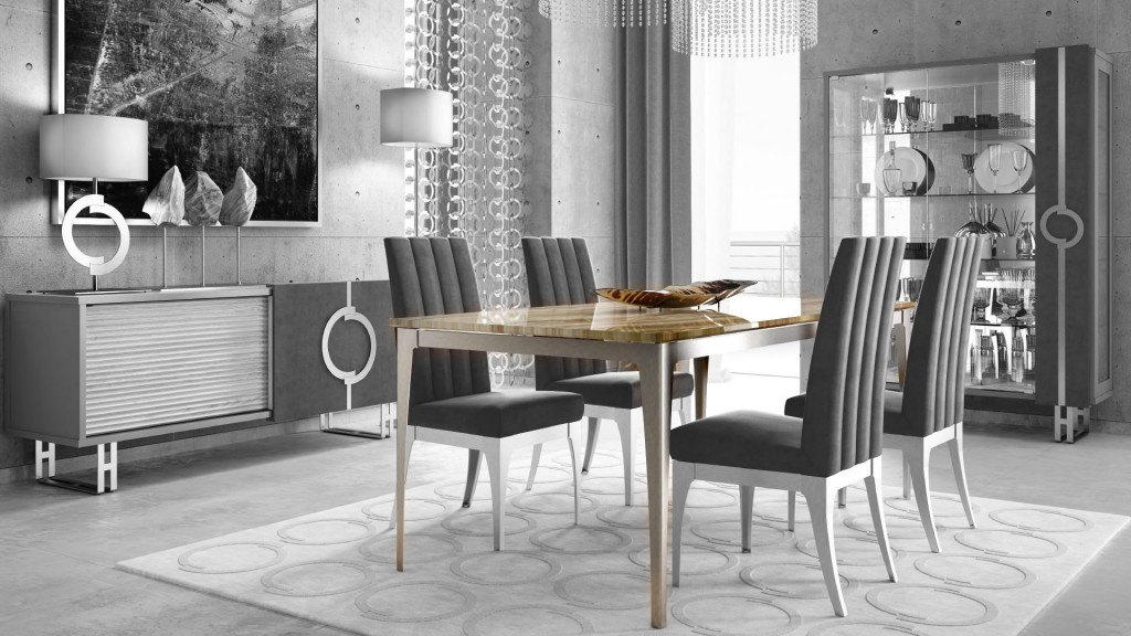 Dolomite luxury table in onyx. Concept by Caroti line