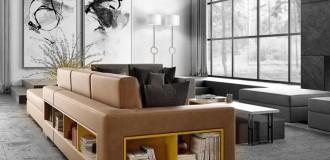 Divano Theca Concept by Caroti: componibile, modulare e versatile