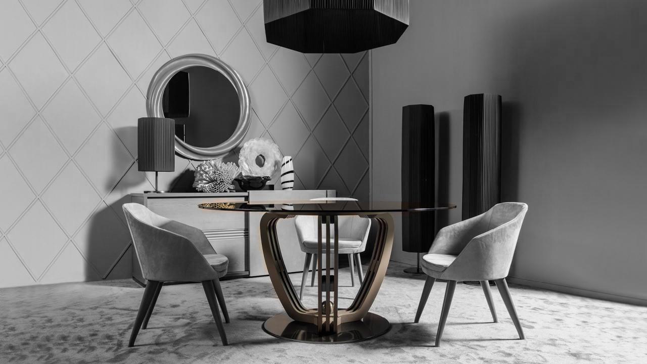 Iostobenequi helix tavolo rotondo per una sala da for Tavolo rotondo e sedie