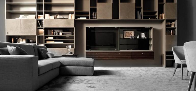 Mondrian parete attrezzata modulare componibile di Concept by Caroti