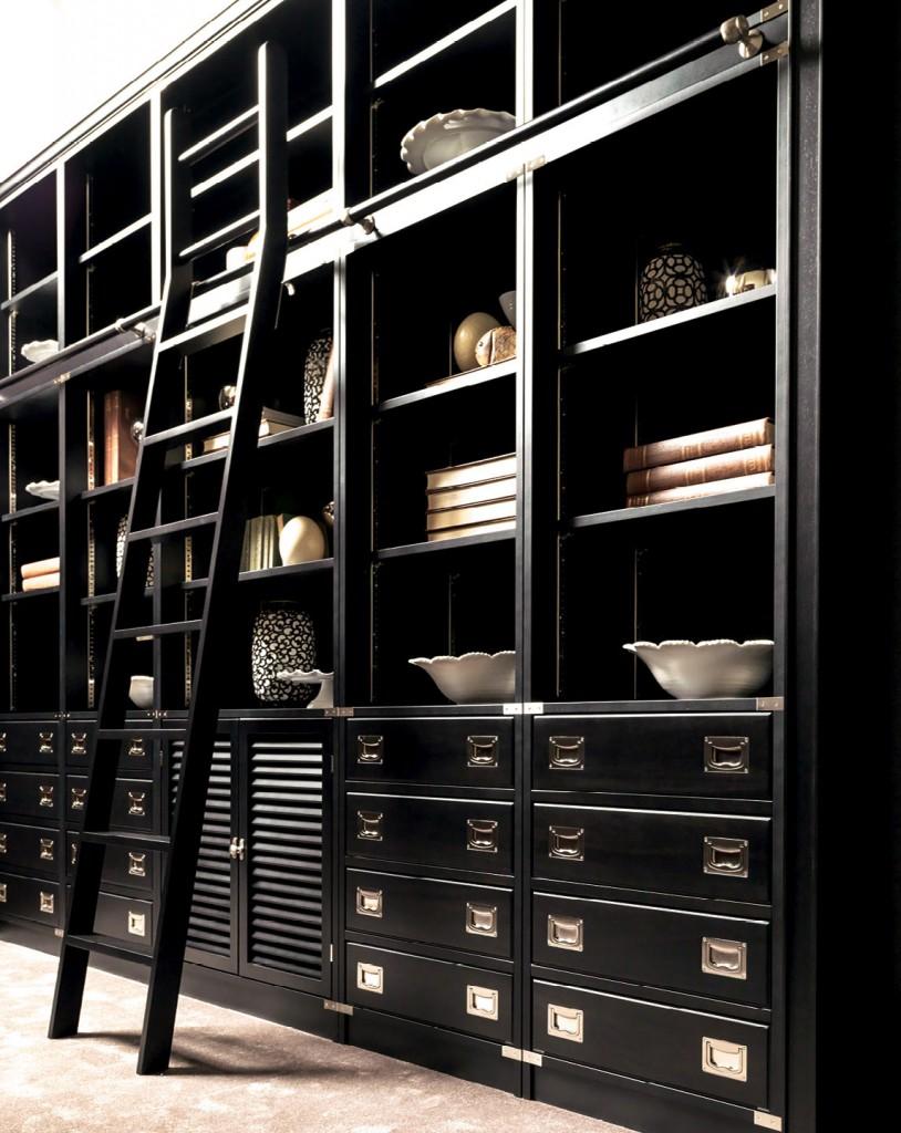 Black Bookcase by Caroti Vecchia Marina