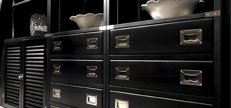 Iostobenequi libreria black in stile neoclassico chic for Tessuti arredo stile marina