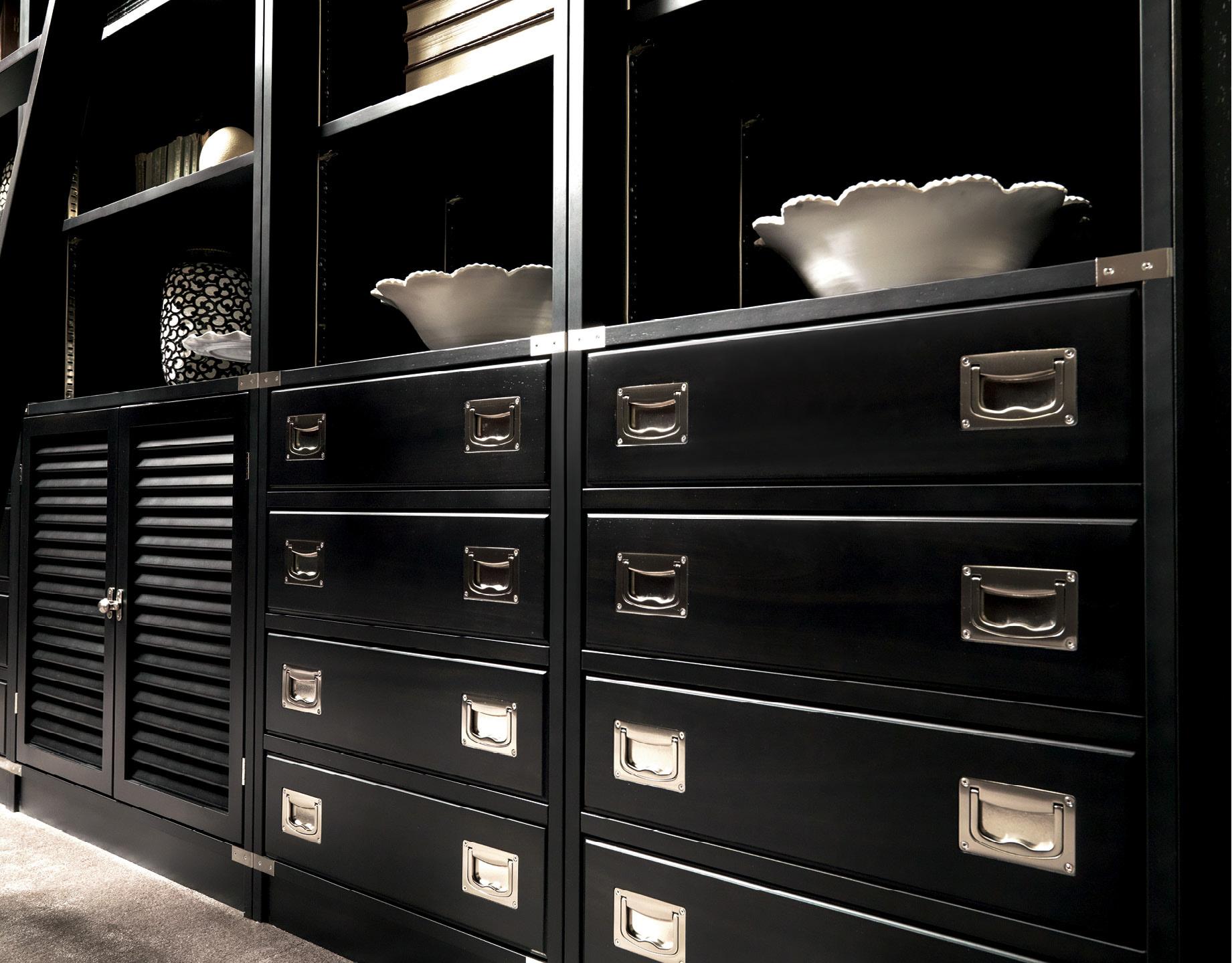 Iostobenequi libreria black in stile neoclassico chic for Arredamento neoclassico