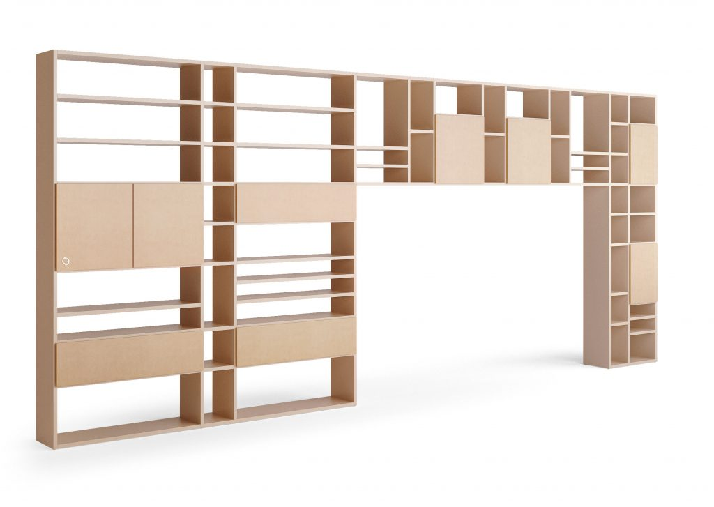 sectional wall unit Mondrian concept by caroti