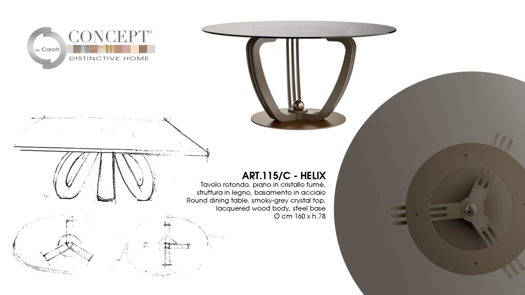 The story of design of Concept by Caroti - helix table - modern design