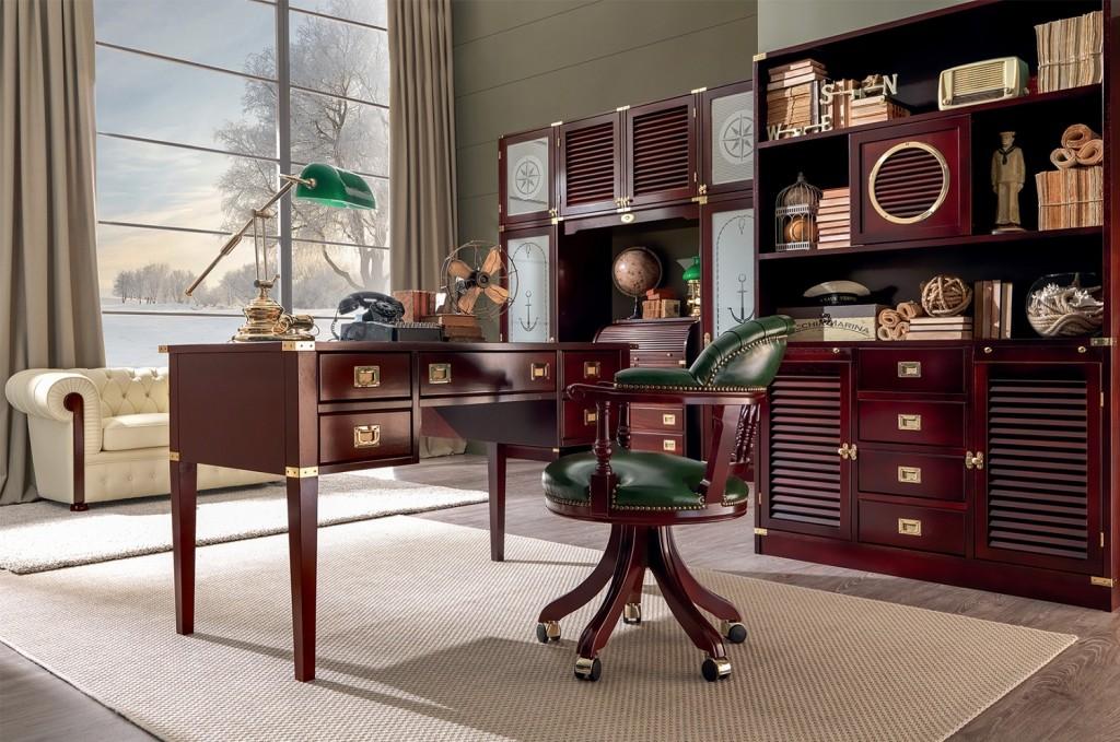 ufficio in stile marina mogano classico