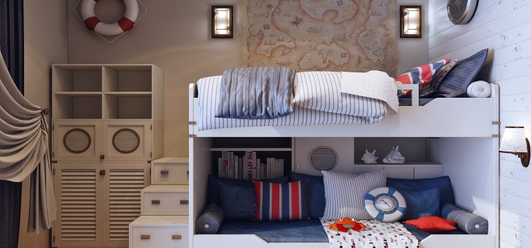 Boy's bedroom with loft