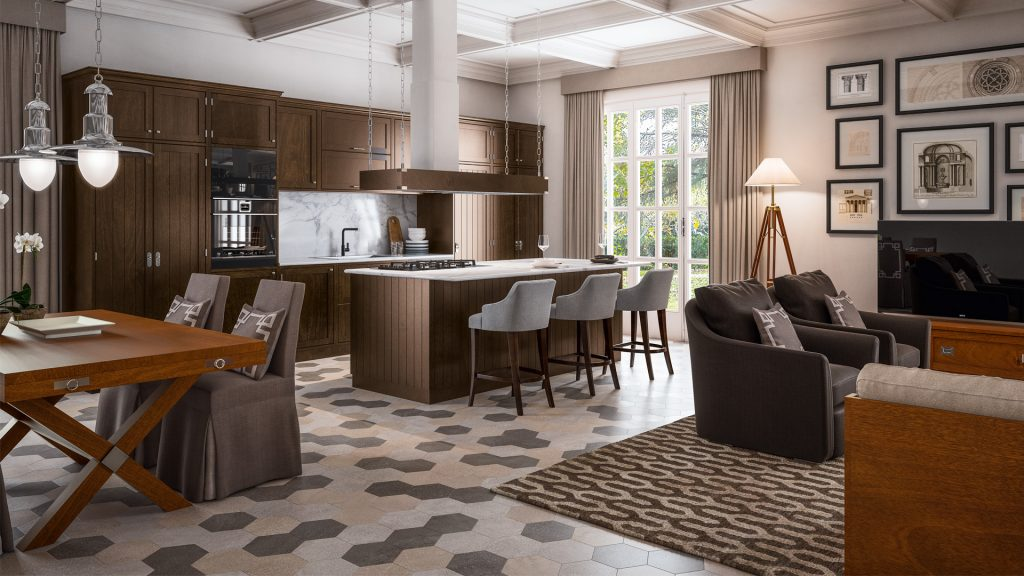 open space modular kitchen