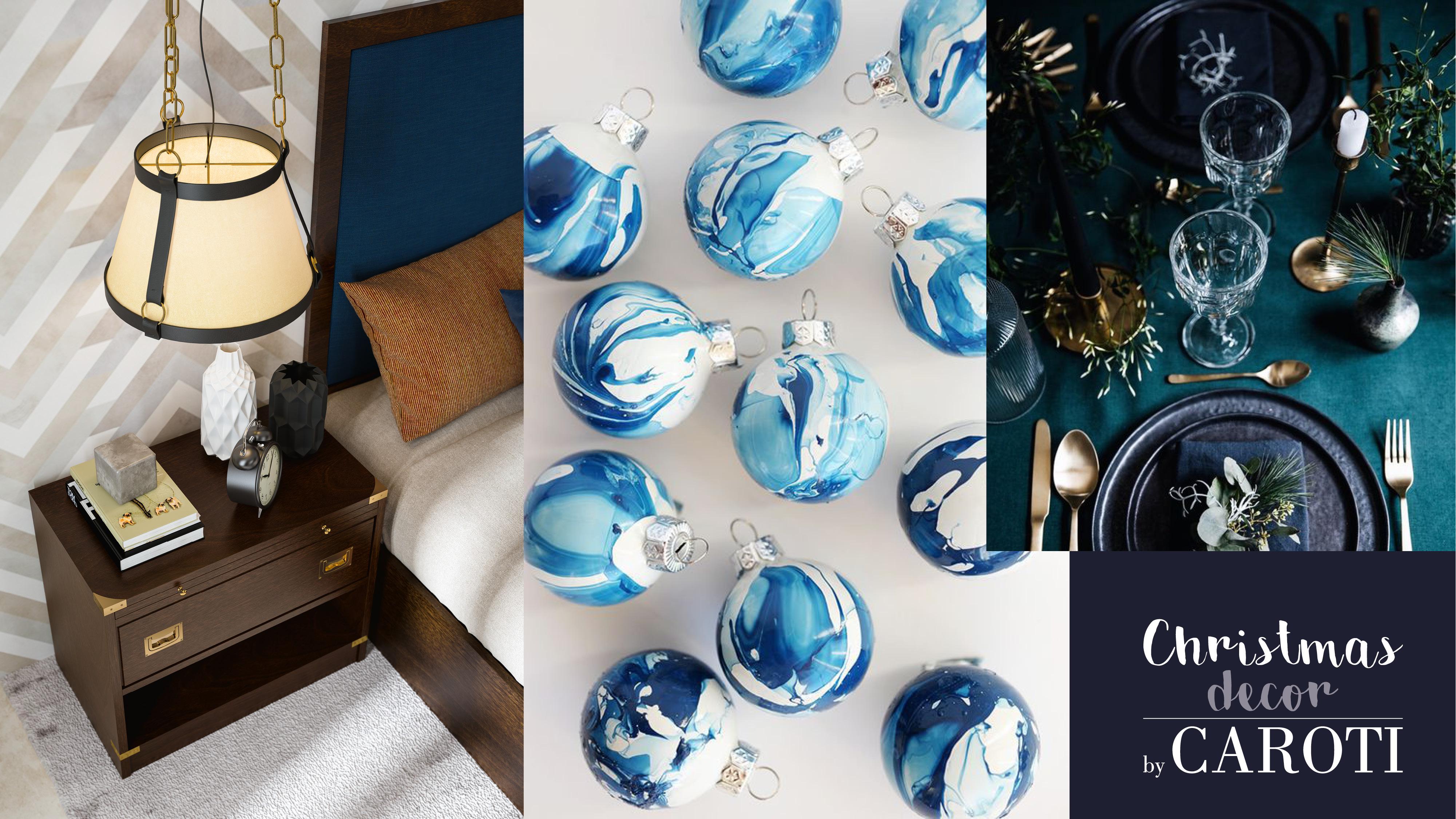 idee per decorare a natale in stile glam blu prussia by caroti