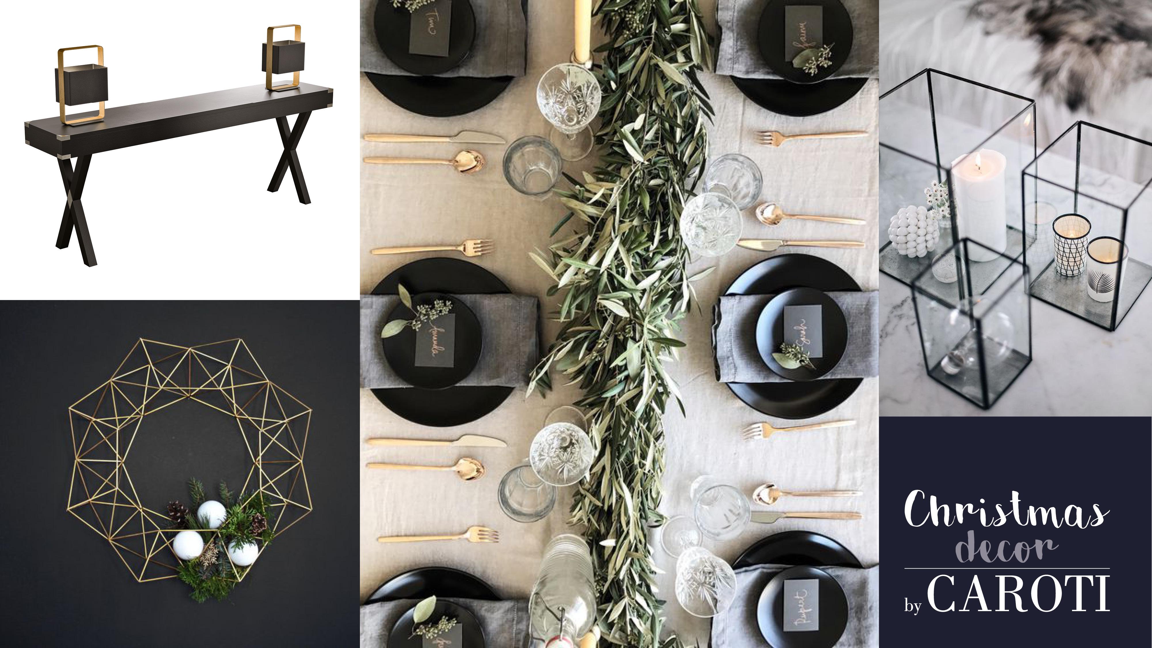 idee per decorare a natale in stile glam black by caroti