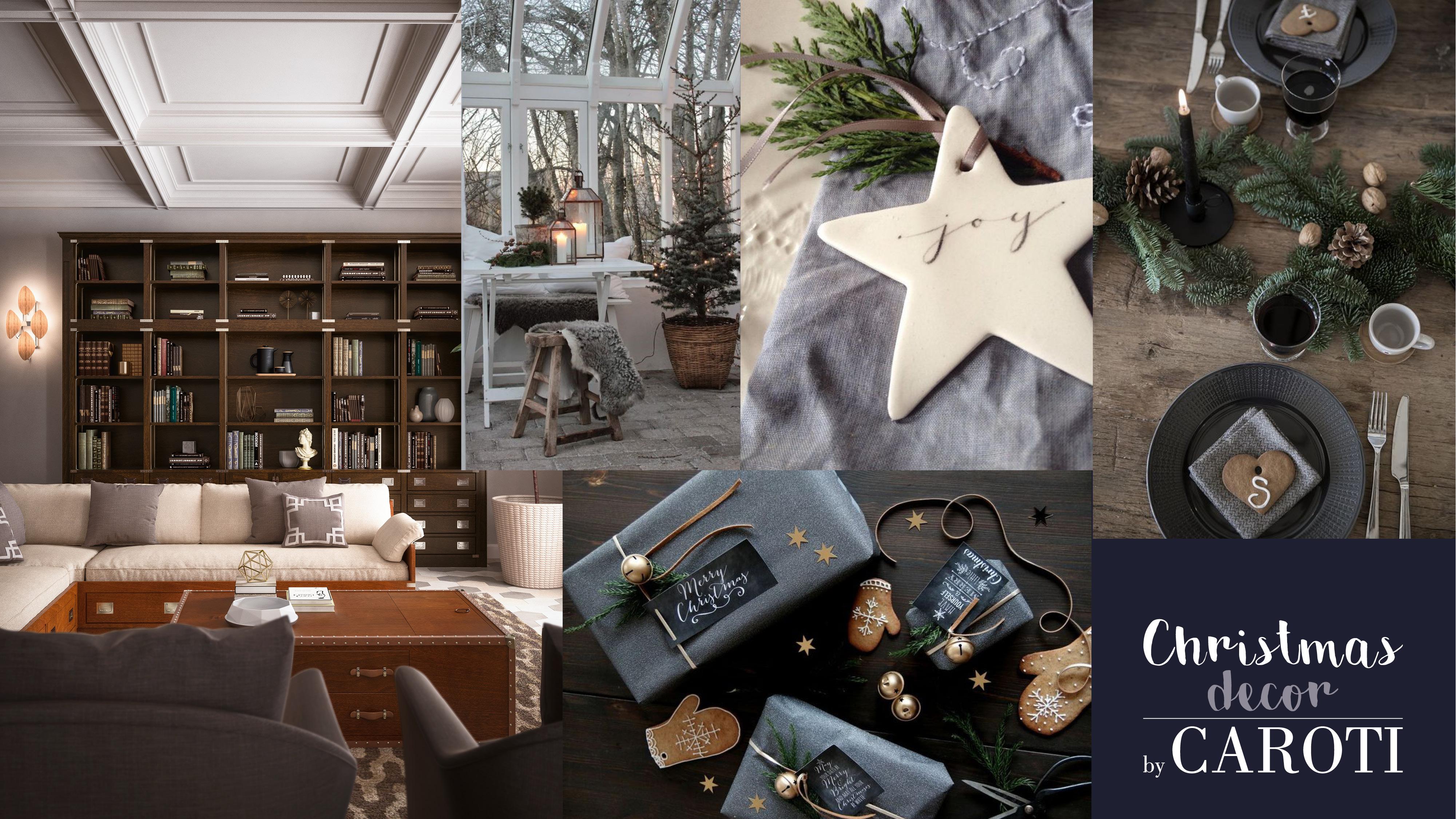 decorazioni natale grigio elegante pandizenzero