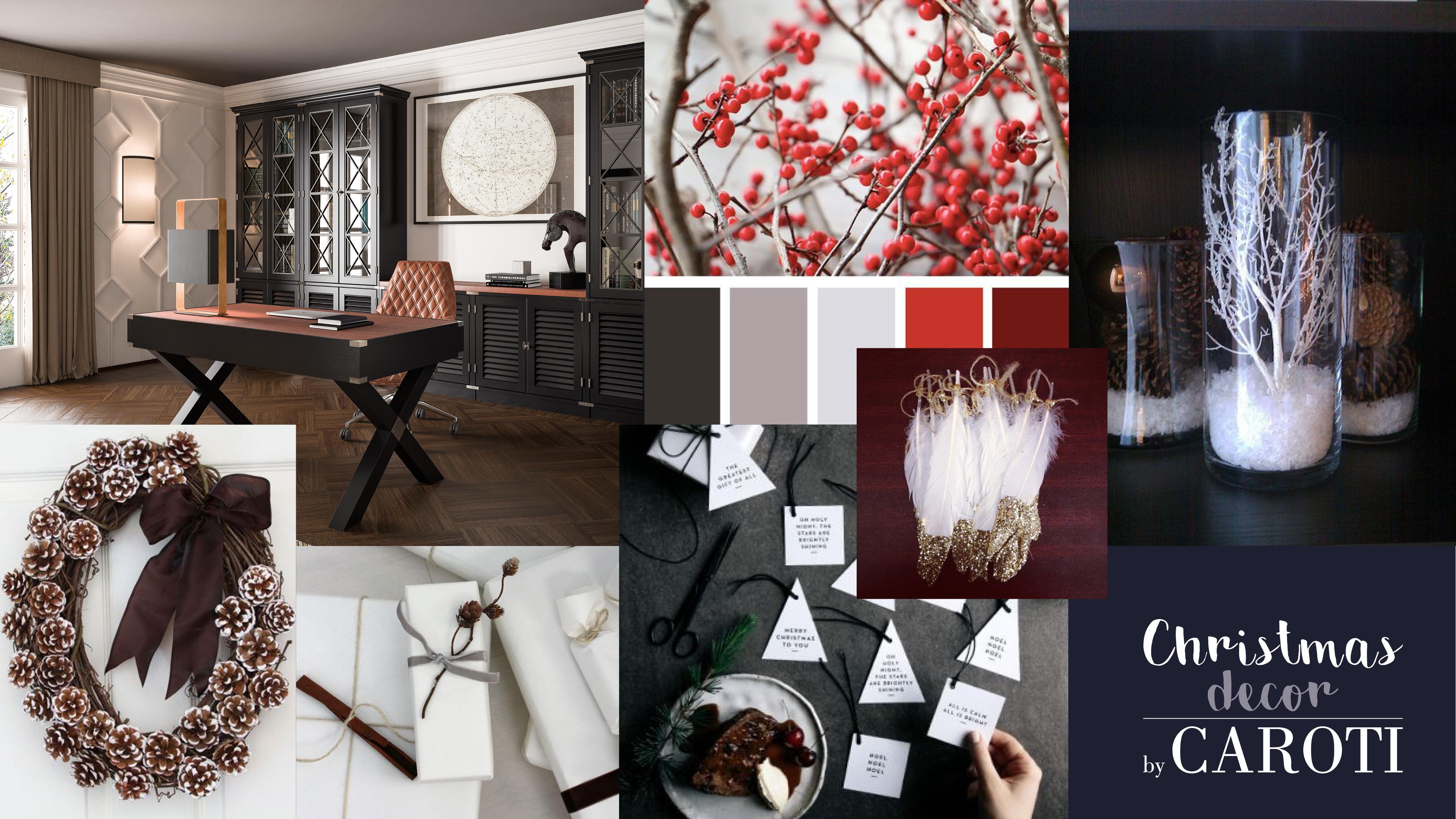 decorazioni natale rosso elegante