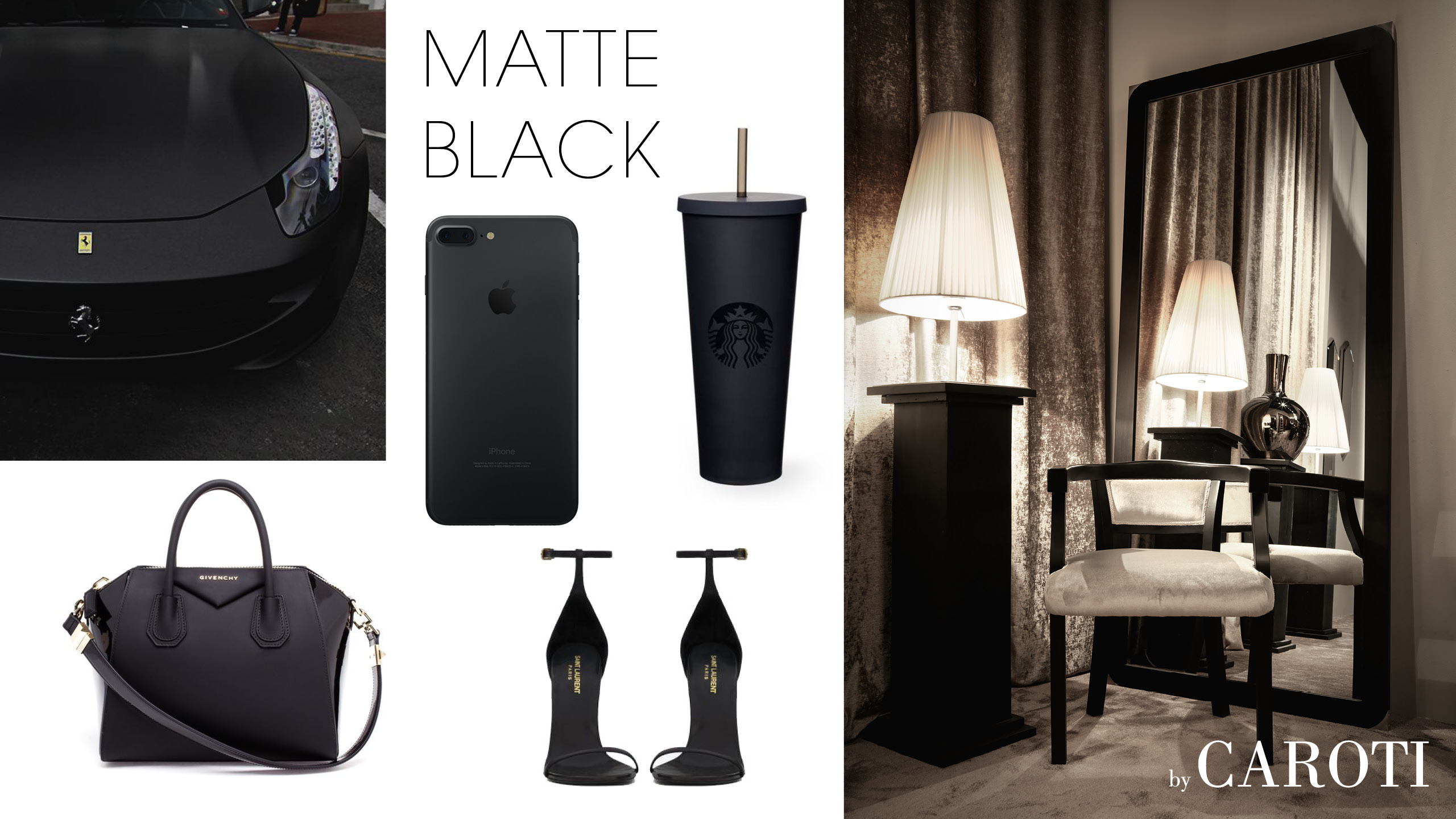 matt black fashion luxury