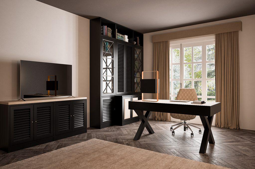 Studio Dolcevita custom Mogano Black e eco-pelle avorio