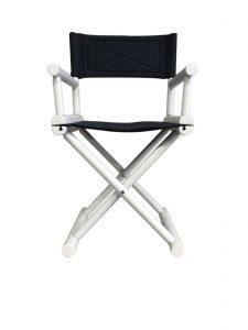 San Babila director's chair with custom fabric