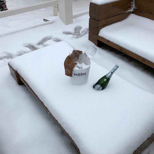 Salotto sotto la neve