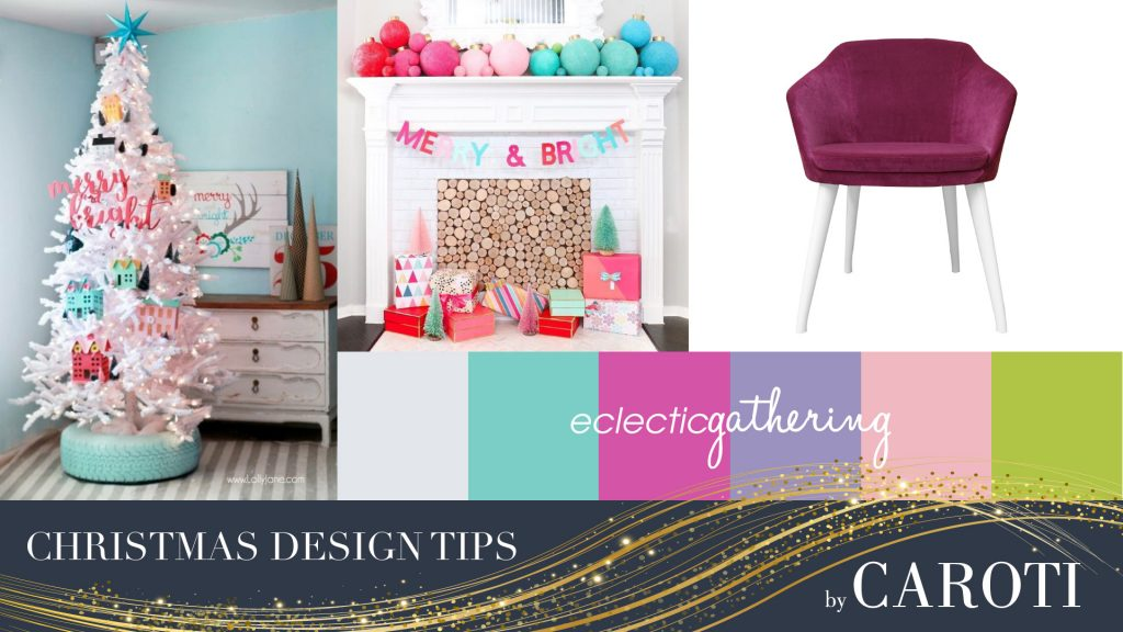 Christmas decorations for pink Kids furniture