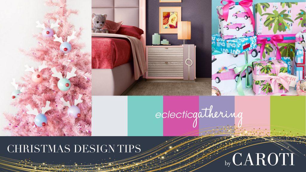 Cameretta Concept rosa decorazioni natalizie rosa tropical