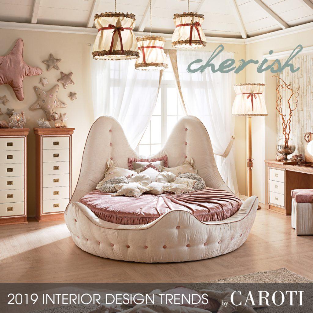 stile per la casa 2019 cherish Mogano Fusion Caroti cameretta letto tondo stella marina