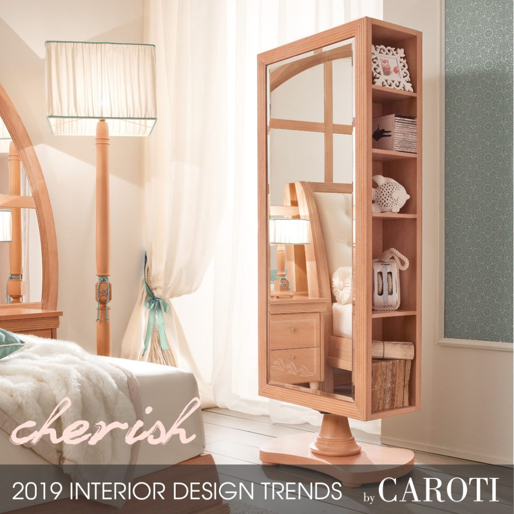 home style inspiration 2019 cherish girl bedroom mirror Vecchia Marina Mogano Fusion