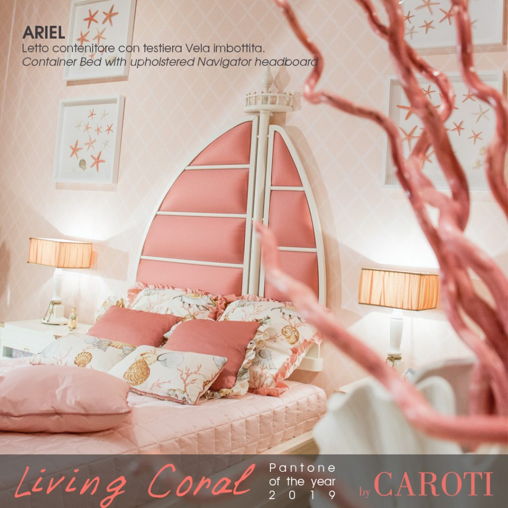 Pantone Living Coral color of the year 2019 palette beige taupe ariel girl bedroom caroti vecchia marina