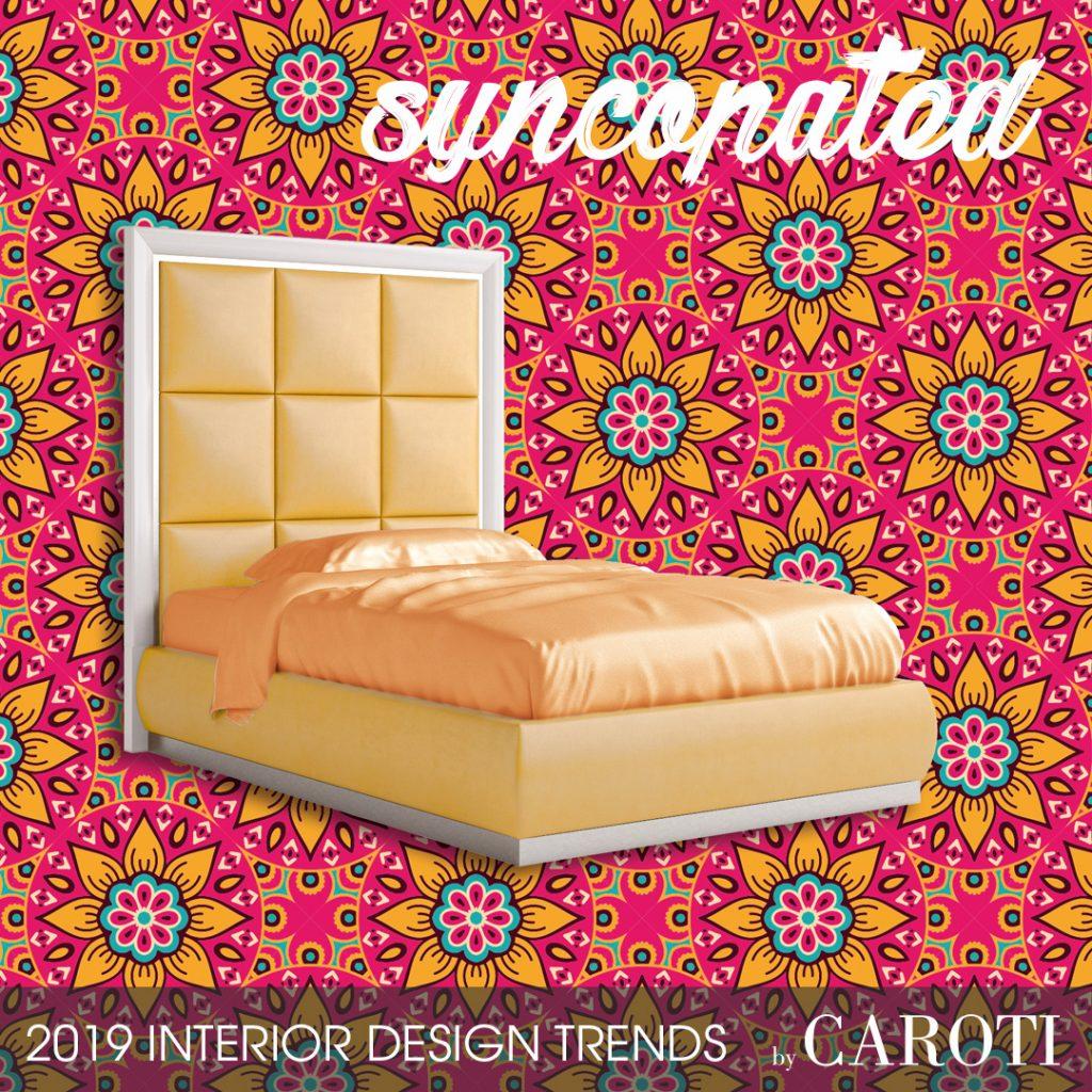 stile per la casa 2019 letto giallo per ragazza concept by caroti letto Chantilly mandala