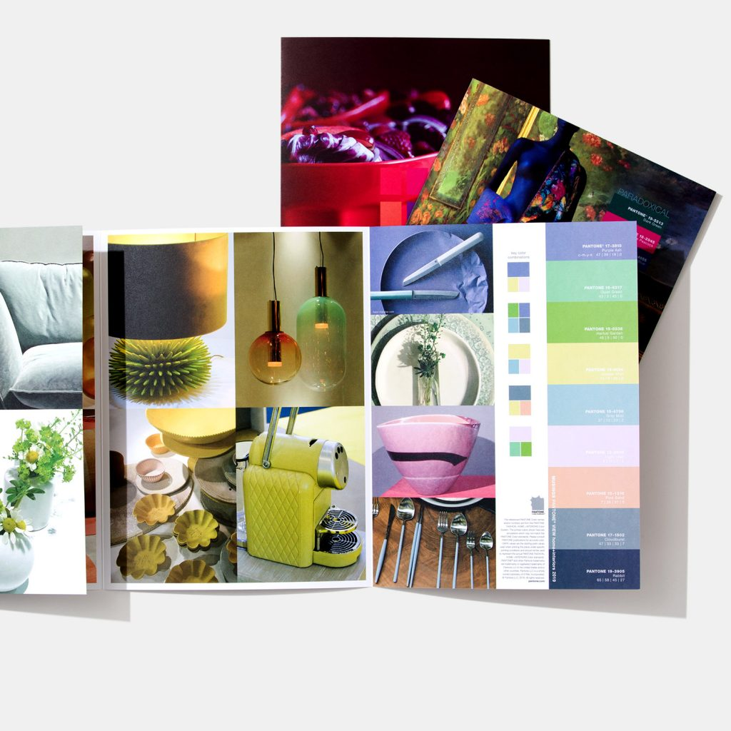 decorate with cool colors Musings palette Pantone
