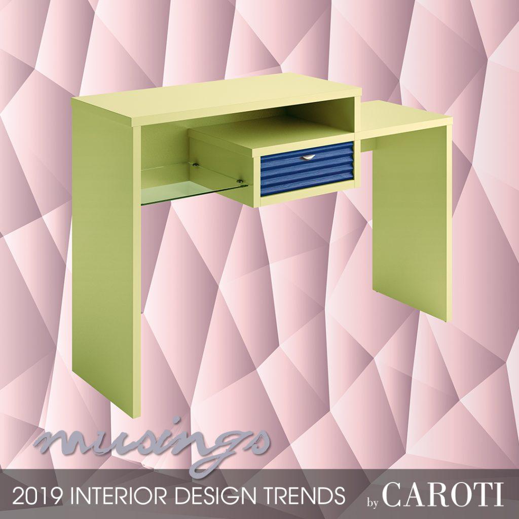 Arredare con i colori freddi Musings Pantone mobile da ingresso Bond Concept by Caroti