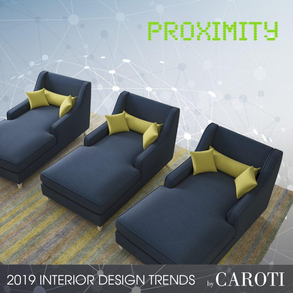 Arredare con i colori freddi Proximity Pantone Concept by Caroti chaise longue Fellini