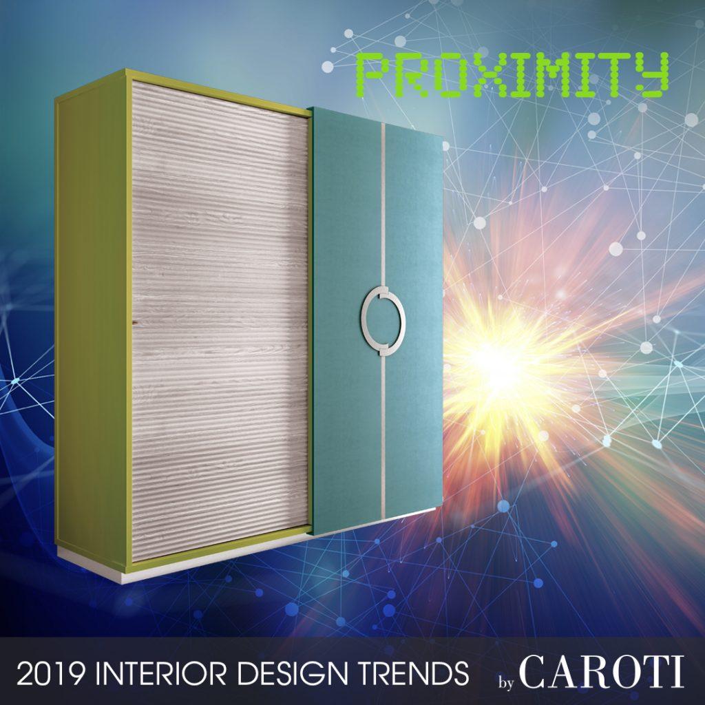 Arredare con i colori freddi Proximity Pantone armadio con ante scorrevoli Concept by Caroti