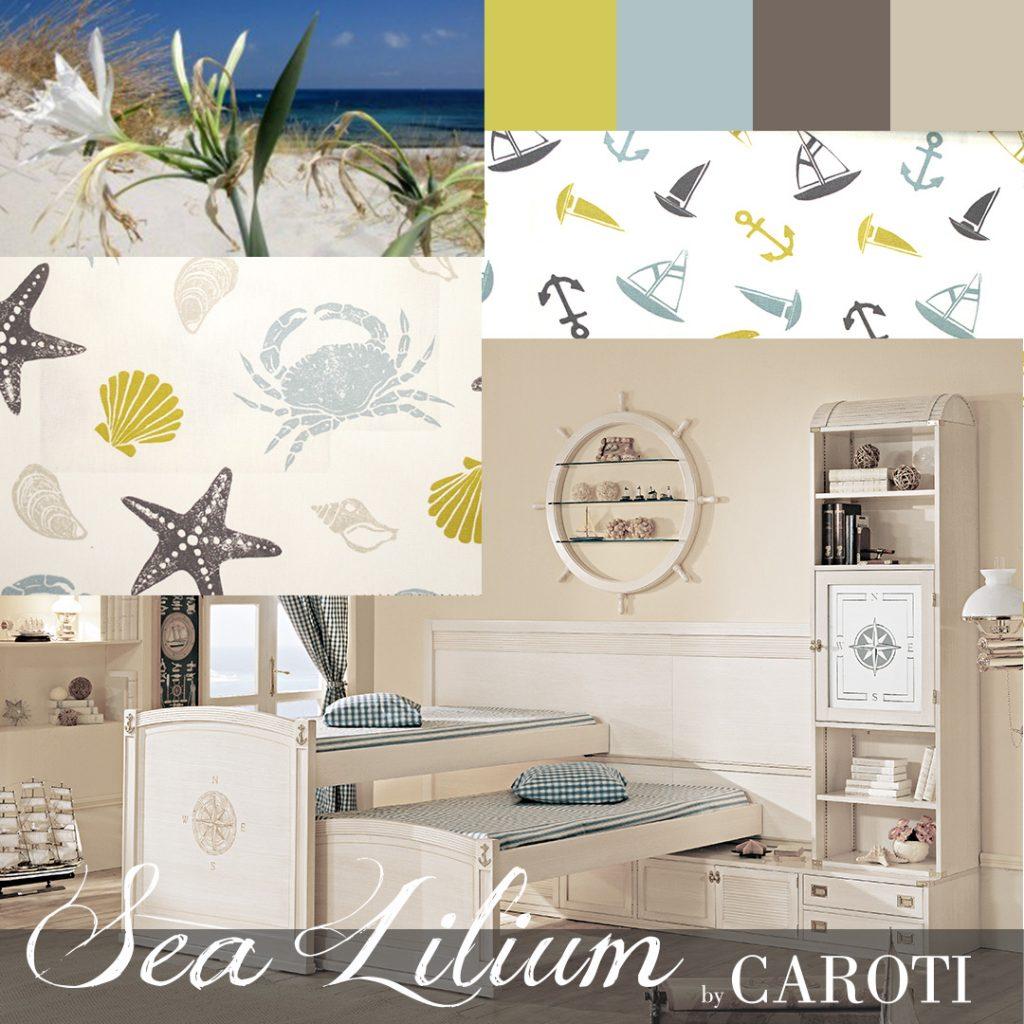 Arredare la camera dei bambini con i colori pastello giglio di mare letto a castello scorrevole vecchia marina by caroti