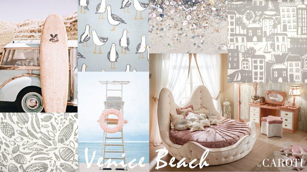 Arredare la camera dei bambini con i colori pastello letto rotondo stella marina by caroti