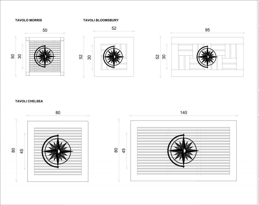 progettazione tavolini mobili su misura