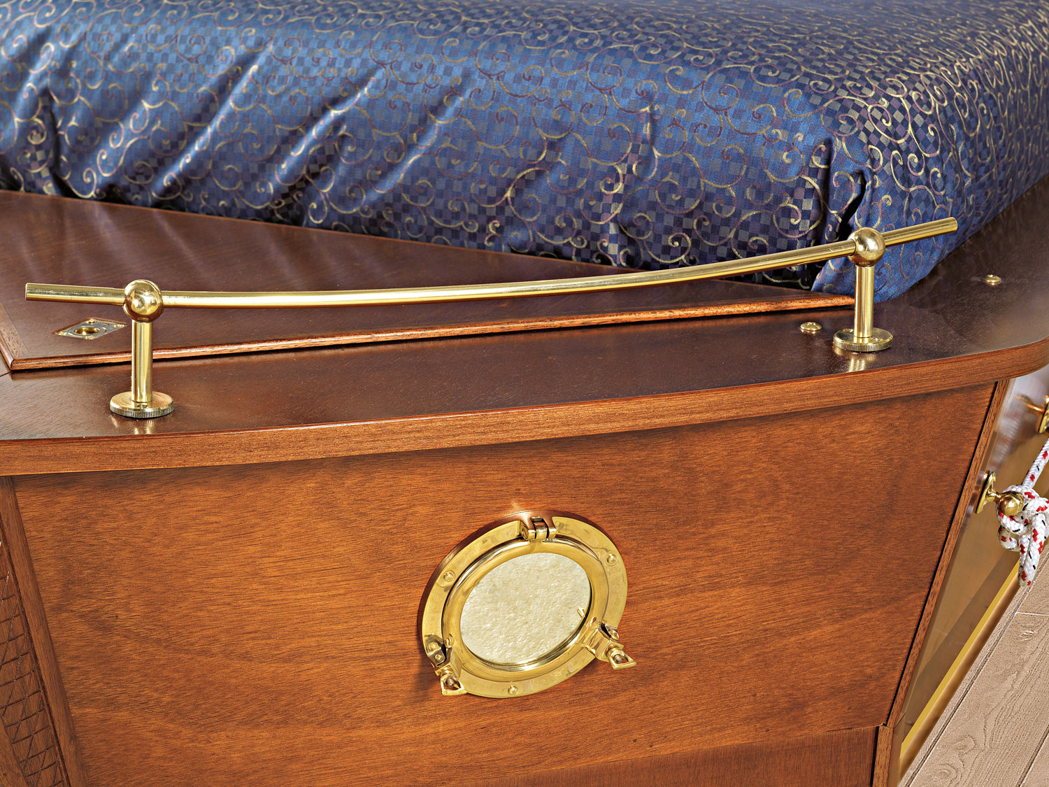 boat-bed with porthole