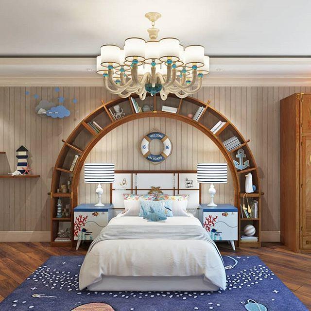 libreria ad arco letto cameretta
