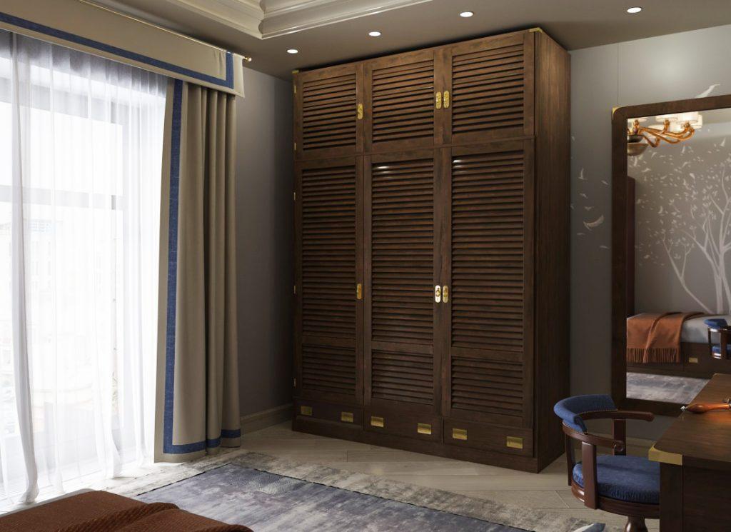 Modular wardrobe Moka mahogany