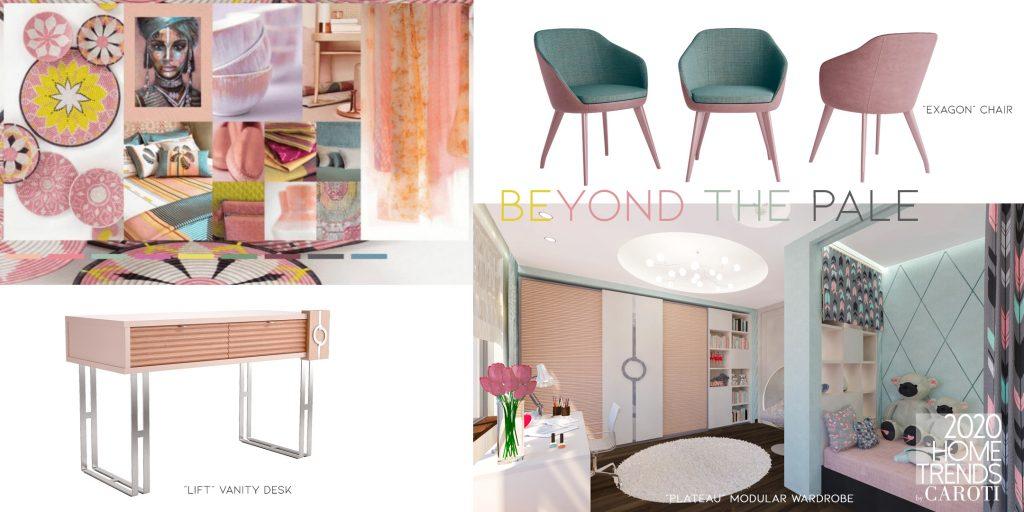 interior design trends 2020 Caroti Beyond the Pale pantone