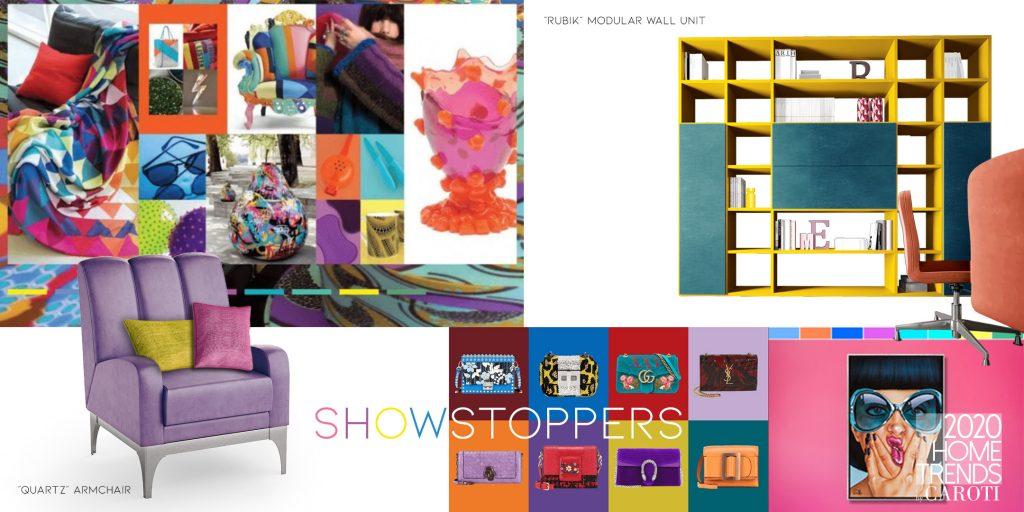 interior design trends 2020 Caroti Show Stoppers pantone