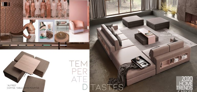 interior design trends 2020 Caroti Temperated Tastes pantone